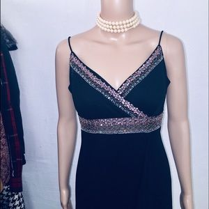 dress barn Dresses - black party gown size M  by Dress Barn
